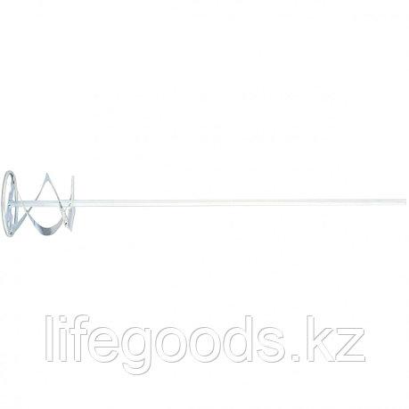 Миксер для красок и штукатурных смесей, 80 х 400 мм, оцинкованный, шестигранный хвостовик 8 мм Matrix, фото 2
