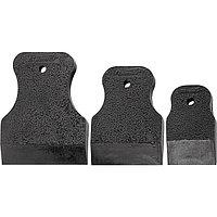 Набор шпателей 40-60-80 мм, черная резина, 3 шт, Россия 858285