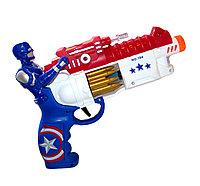 194BM Пистолет Капитан Америка с музыкой 30*21см