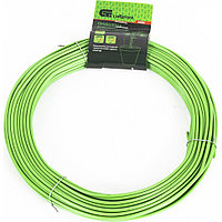 Проволока для подвязки, стальная в ПВХ (зеленый) 25 м, внутр. 1,6 мм / внеш. 3 мм Сибртех 64380