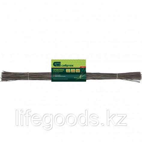 Проволока стальная в прутках 400 мм х 100 шт, вязальная, термообработанная 1,4 мм Сибртех 84916, фото 2
