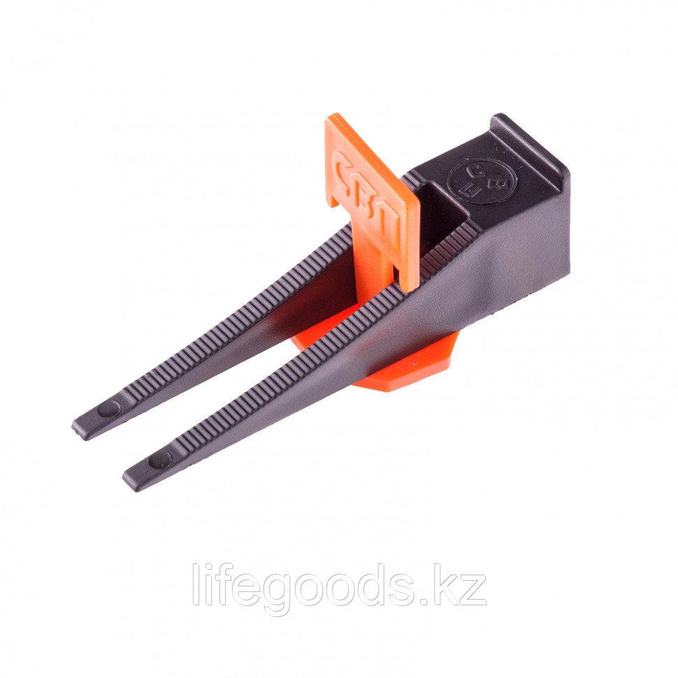 Система выравнивания плитки СВП - комплект: зажим + клин 250/250 шт Сибртех 88075