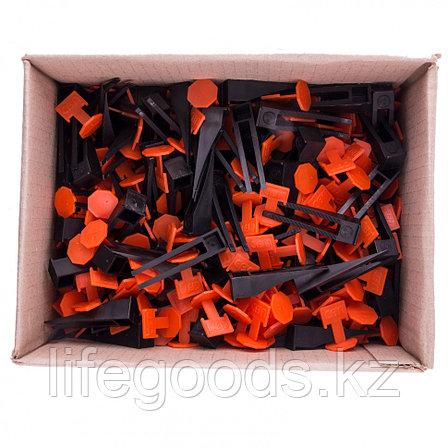 Система выравнивания плитки СВП - комплект: зажим + клин 250/250 шт Сибртех 88075, фото 2