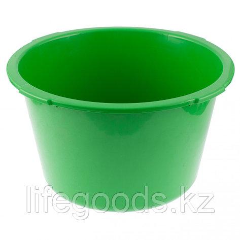 Таз круглый строительныйй, зеленый, 30 л, Россия Сибртех 81456, фото 2
