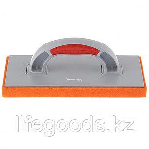 Терка пластмассовая, гидрогубчатое покрытие 18 мм, 270 x 130 мм, двухкомпонентная ручка Matrix 86806, фото 2
