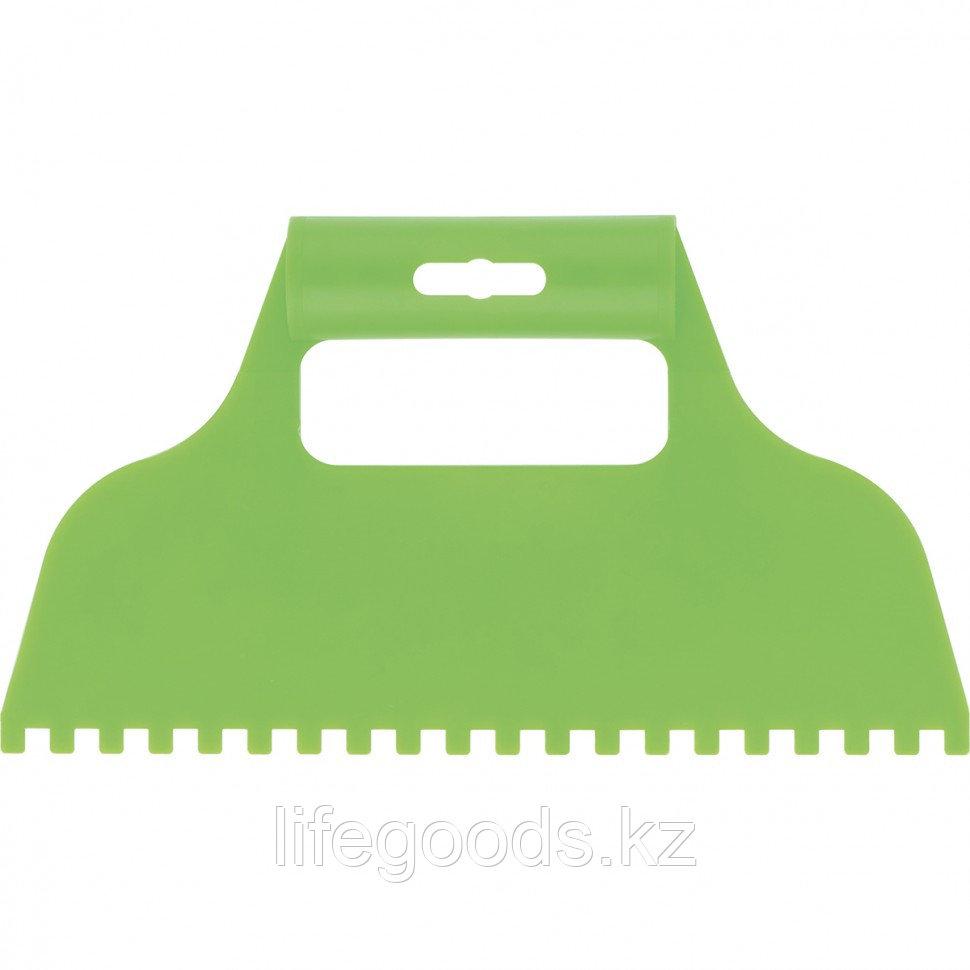 Шпатель для клея, пластмассовый, зубчатый 6 х 6 мм Сибртех 86015