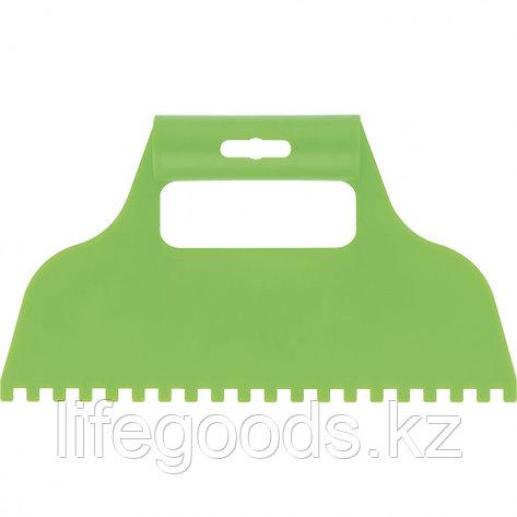 Шпатель для клея, пластмассовый, зубчатый 6 х 6 мм Сибртех 86015, фото 2
