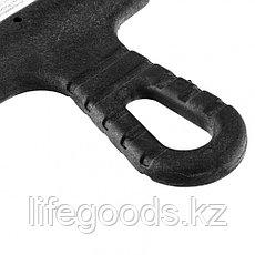 Шпатель из нержавеющей стали, 200 мм, зуб 10 х 10 мм, пластмассовая ручка Россия 85148, фото 3