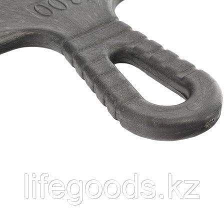 Шпатель из нержавеющей стали, 250 мм, зуб 6 х 6 мм, пластмассовая ручка Сибртех 85465, фото 2