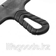 Шпатель из нержавеющей стали, 300 мм, зуб 10 х 10 мм, пластмассовая ручка Россия 85130, фото 3