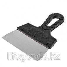 Шпатель фасадный из нержавеющей стали, 150 мм, пластмассовая ручка Россия 85149, фото 3