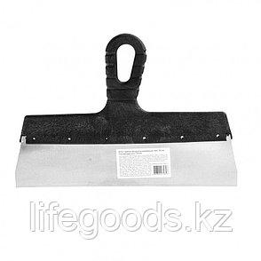 Шпатель фасадный из нержавеющей стали, 300 мм, пластмассовая ручка Россия 85152, фото 2