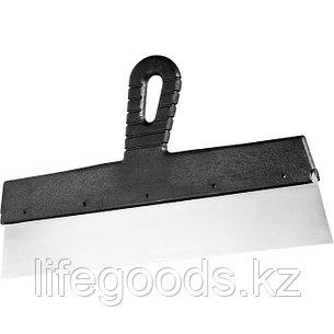 Шпатель фасадный из нержавеющей стали, 350 мм, пластмассовая ручка Сибртех 85446, фото 2