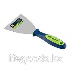 Шпательная лопатка из нержавеющей стали, 100 мм, двухкомпонентная ручка Сибртех 85526, фото 2