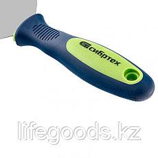 Шпательная лопатка из нержавеющей стали, 100 мм, двухкомпонентная ручка Сибртех 85526, фото 3