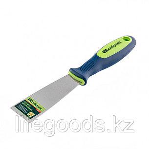 Шпательная лопатка из нержавеющей стали, 40 мм, двухкомпонентная ручка Сибртех 85521, фото 2