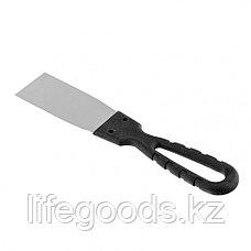 Шпательная лопатка из нержавеющей стали, 40 мм, пластмассовая ручка Россия 85132, фото 2