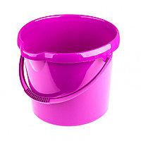 Ведро пластмассовое круглое 12 л, фиолетовое Elfe 92957