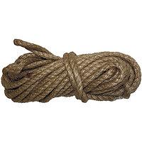 Веревка джутовая, L 10 м, крученая, D 8 мм Россия Сибртех 94013