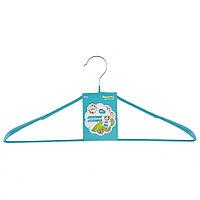 Вешалка метал для верхней одежды с прорезиненным противоскользящим покрытием 45 см, бирюзовая Elfe 92926