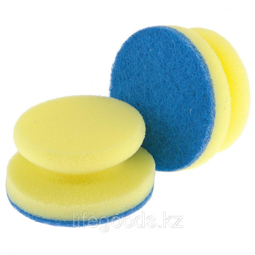 Губки для посуды c тефлоновым покрытием, круглые, D 95 х 50 мм, 2 шт, в картоне, Россия Elfe 92361
