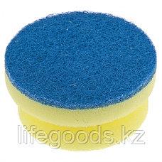 Губки для посуды c тефлоновым покрытием, круглые, D 95 х 50 мм, 2 шт, в картоне, Россия Elfe 92361, фото 3