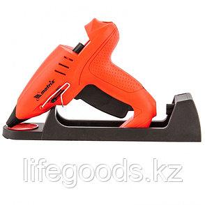 Клеевой пистолет 11 мм, подставка, кейс, 20 (160) Вт, 16 г/мин, регулятор 150-200° Matrix 93015, фото 2
