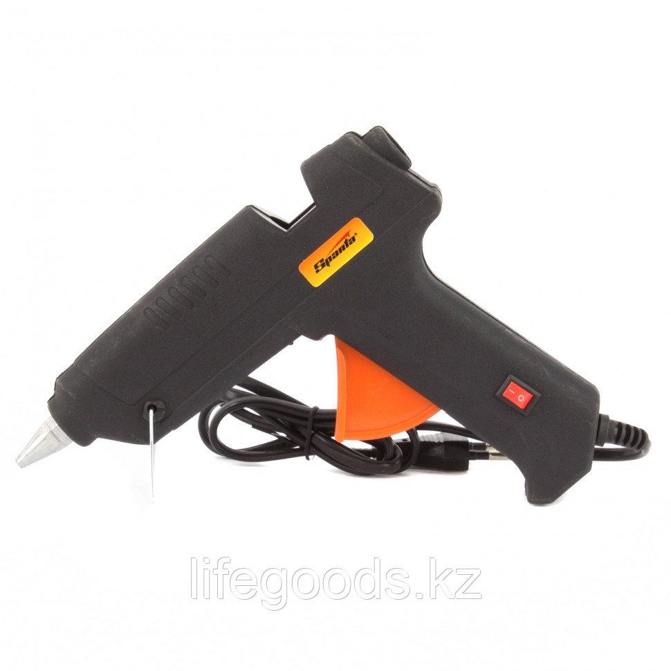 Клеевой пистолет с выключателем 12 мм в кейсе, 80 Вт, 6 г/мин Sparta 93033