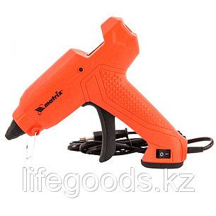 Клеевой пистолет, 11 мм, 30 (160) Вт, 18 г/мин, выключатель и индикатор напряжения Matrix 93006, фото 2