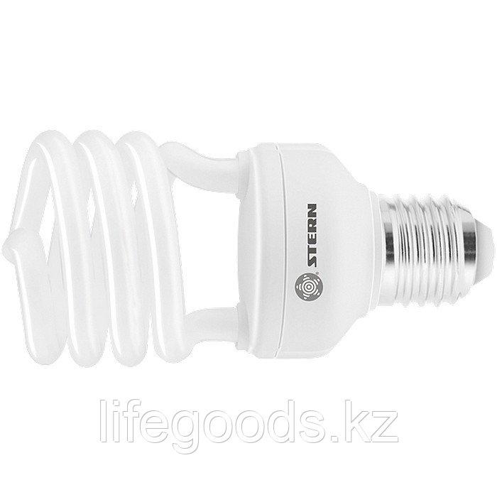 Лампа компактная люминесцентная, полуспиральная, 11 W, 4100K, E27, 8000ч Stern 90911