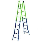 Лестница - стремянка –трансформер, 148 см-44 см/220 см-448 см, Россия, Сибртех 97892