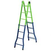 Лестница - стремянка-трансформер, 121 см-44 см/194 см-394 см, Россия, Сибртех 97891