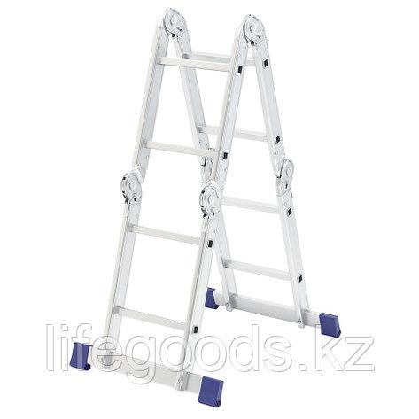 Лестница шарнирная алюминиевая, 4 х 2 ступени, Россия, Сибртех 97879, фото 2