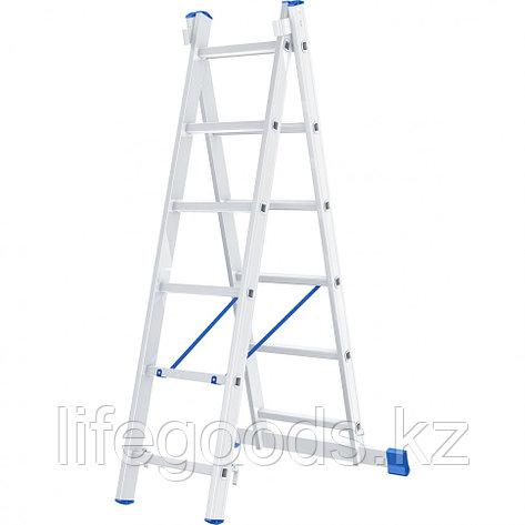 Лестница, 2 х 6 ступеней, алюминиевая, двухсекционная, Россия, Сибртех 97906, фото 2