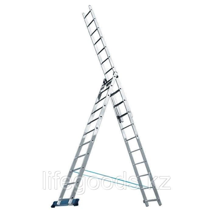 Лестница, 3 х 8 ступеней, алюминиевая, трехсекционная Pоссия 97781