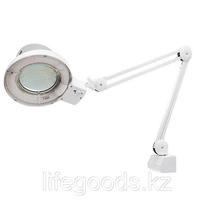 Лупа с подсветкой 3 кратная, D 125 мм, со струбцинным креплением к столу Matrix 913625