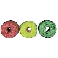 Набор шпагатов полипропиленовых, 6 шт, х 60 м, разные цвета, 1200 текс, 50 кгс Россия Сибртех 93884