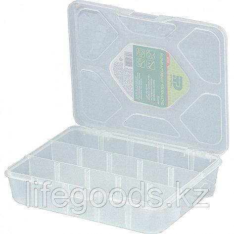 Органайзер универсальный малый, прозрачный матовый 19 х 16 х 4,5 см Сибртех 90726, фото 2