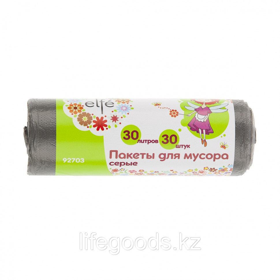Пакеты для мусора 30 л х 30 шт, серые, Россия Elfe 92703