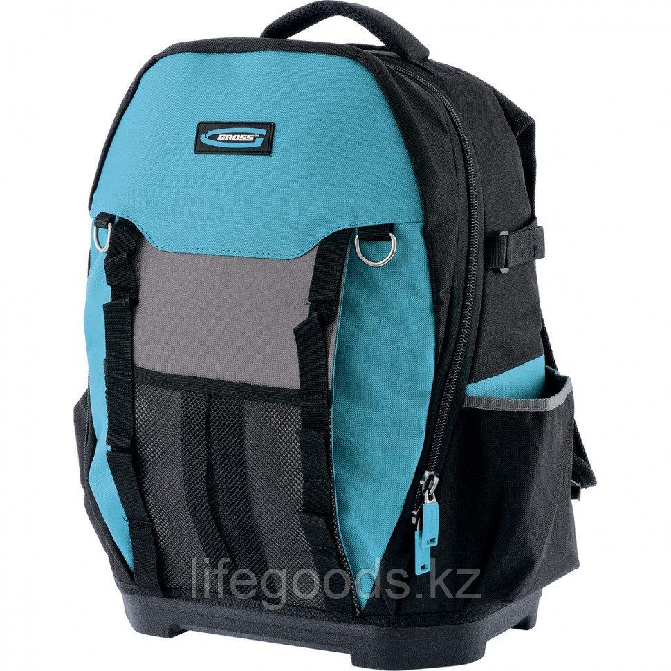 Рюкзак для инструмента Experte, 77 карманов, пластиковое дно, органайзер, 360 х 205 х 470 мм Gross 90270