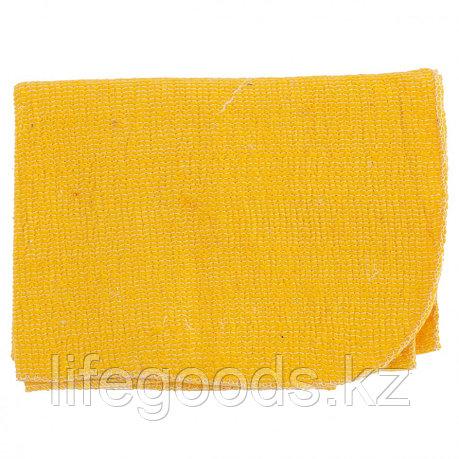 Салфетка для пола х/б желтая 500 х 700 мм Россия Elfe 92329, фото 2