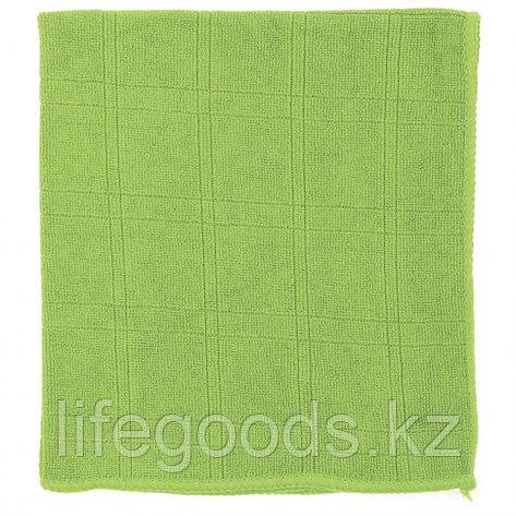 Салфетка из микрофибры для кухни зеленая 350 х 400 мм Elfe 92314, фото 2