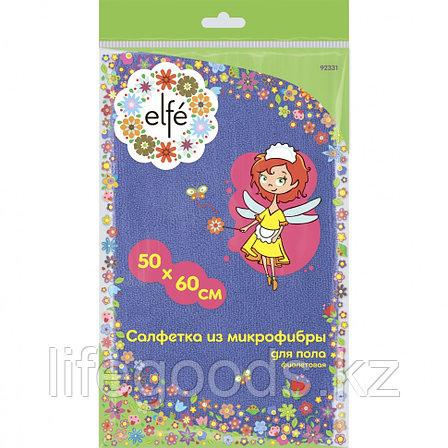 Салфетка из микрофибры для пола, фиолетовая, 500 х 600 мм Elfe 92331, фото 2