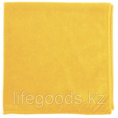 Салфетка из микрофибры жемчужная для бытовой техники и мебели, желтая, 400 х 400 мм Elfe 92316, фото 2