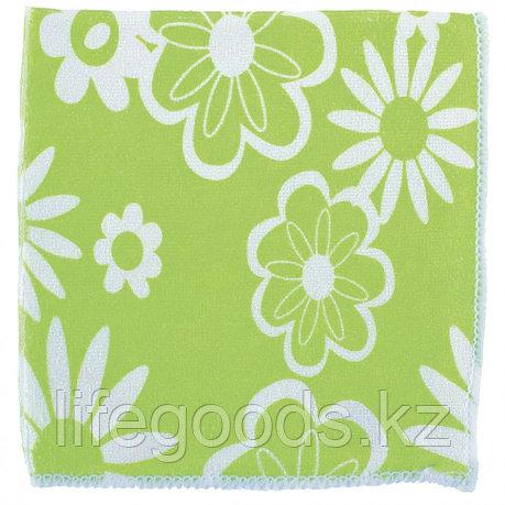 Салфетки из микрофибры, зеленые, 300 х 300 мм Elfe 92307, фото 2