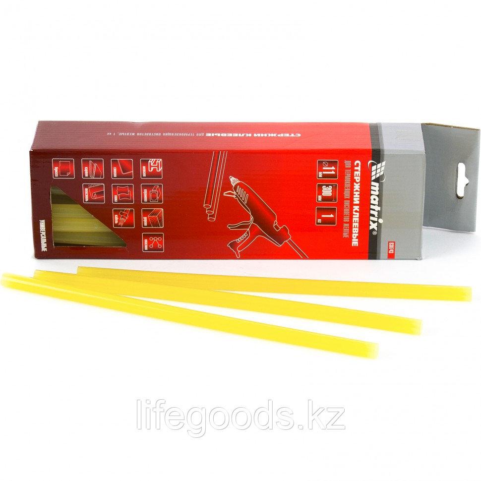 Стержни клеевые, 11 мм, L-300 мм, 1 кг, желтый Matrix 930743