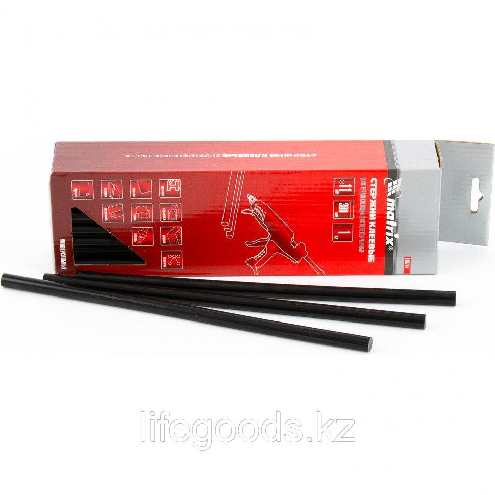 Стержни клеевые, 11 мм, L-300 мм, 1 кг, черный Matrix 930744