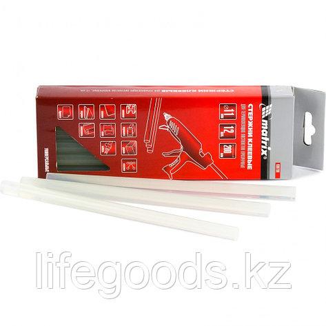 Стержни клеевые, прозрачные, 11 х 200 мм, в упаковке 12 шт Matrix 930730, фото 2