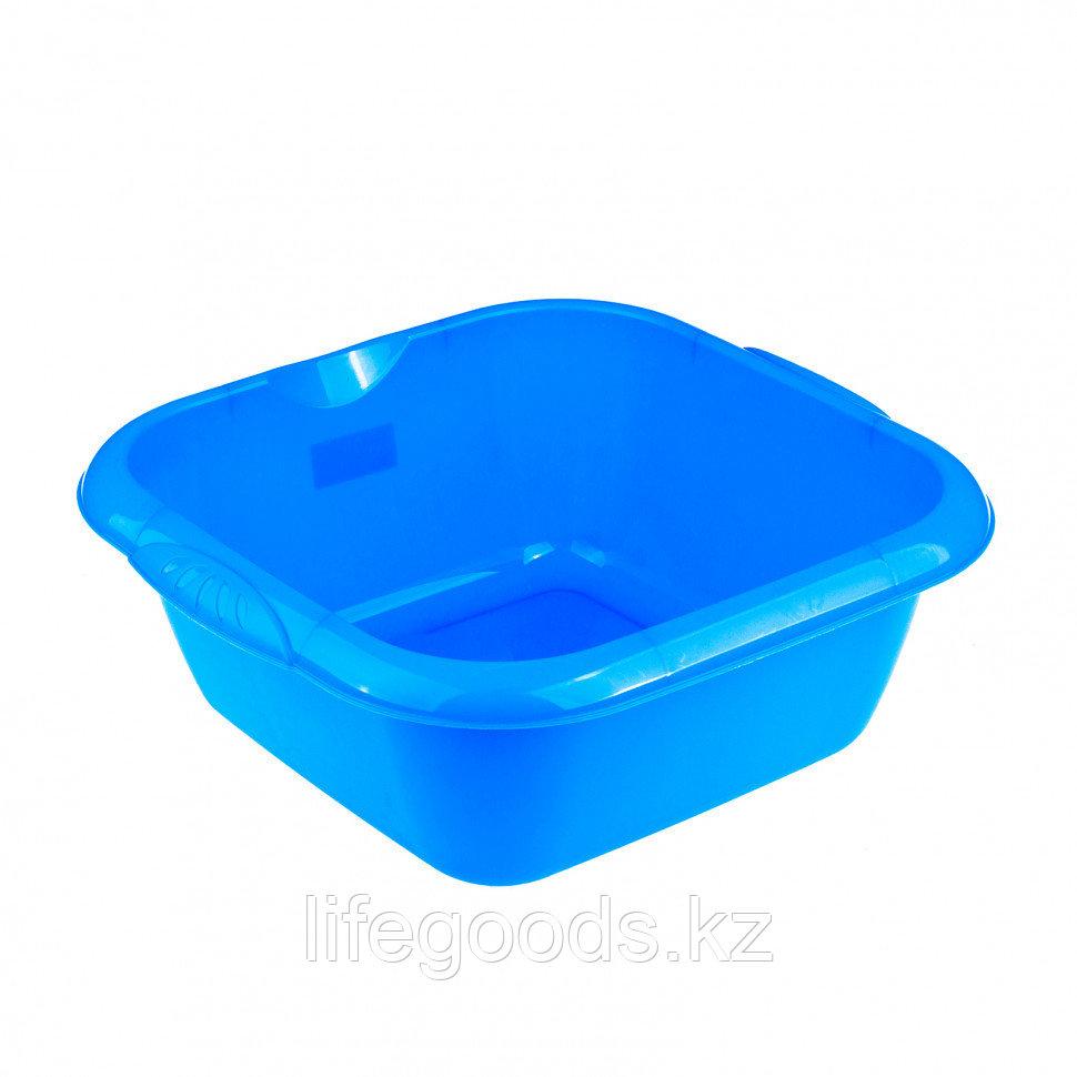 Таз пластмассовый квадратный 12 л, голубой, Россия Elfe 92985