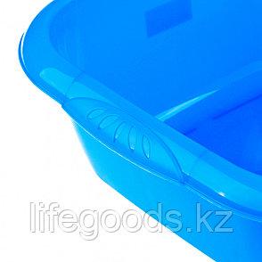Таз пластмассовый квадратный 12 л, голубой, Россия Elfe 92985, фото 2